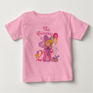 Princesa 2do cumpleaños remera