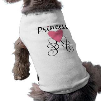 Princesa 3 playera sin mangas para perro