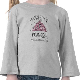 Princesa 3ro cumpleaños T-Shir de la tiara… - Camiseta
