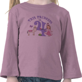 Princesa 4to cumpleaños del unicornio camiseta