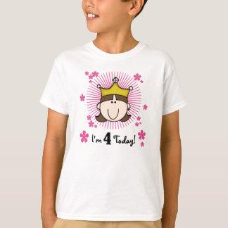 Princesa 4to cumpleaños playera