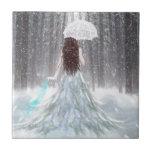 Princesa abstracta de la nieve del invierno del án azulejo ceramica