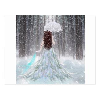 Princesa abstracta de la nieve del invierno del án postal