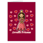 Princesa adorable tarjeta