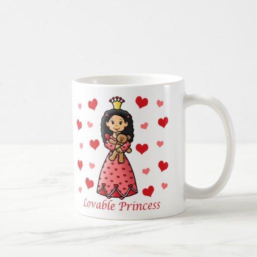 Princesa adorable taza