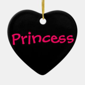 Princesa Adorno Navideño De Cerámica En Forma De Corazón