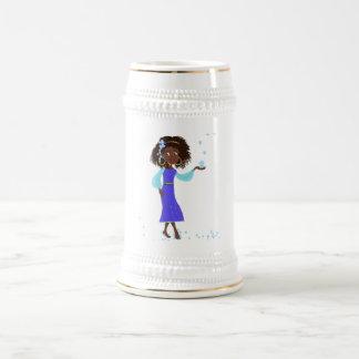 Princesa africana Mug Jarra De Cerveza