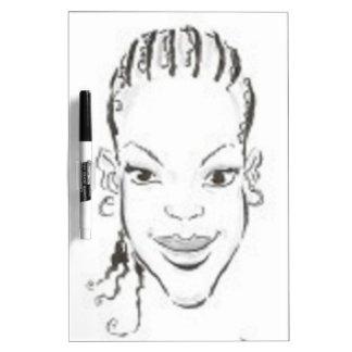 Princesa africana tableros blancos