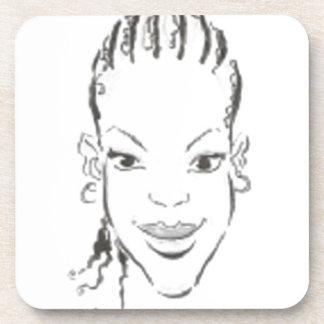 Princesa africana posavasos de bebidas