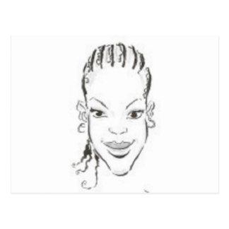Princesa africana tarjeta postal