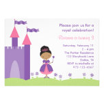 Princesa afroamericana Birthday Invitation