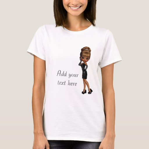 Princesa afroamericana Diva Custom T-Shirt Playera