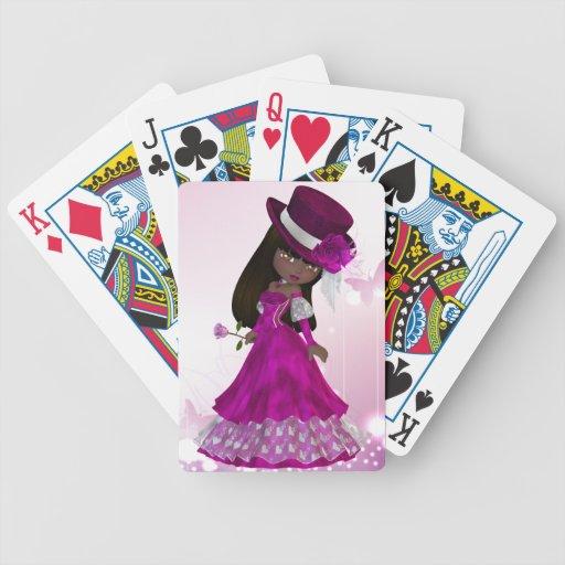 Princesa afroamericana naipes barajas