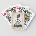 Princesa afroamericana naipes cartas de juego