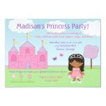 Princesa afroamericana Party Invitation Invitación