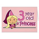 Princesa Age 3 Tarjeta