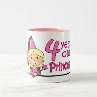 Princesa Age 4 Tazas De Café