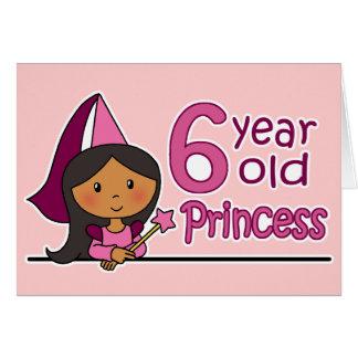 Princesa Age 6 Tarjeta De Felicitación