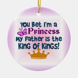 ¡Princesa al rey de reyes Ornamentos Para Reyes Magos