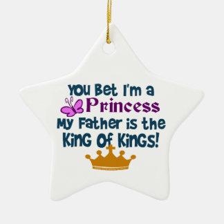 ¡Princesa al rey de reyes Ornamento Para Arbol De Navidad