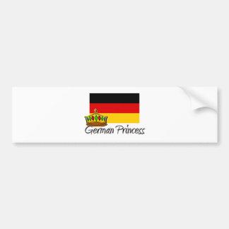 Princesa alemana etiqueta de parachoque