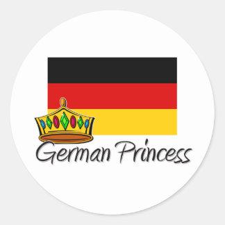 Princesa alemana pegatinas redondas