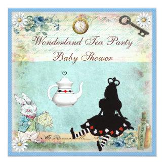 """Princesa Alicia en fiesta del té de la fiesta de Invitación 5.25"""" X 5.25"""""""