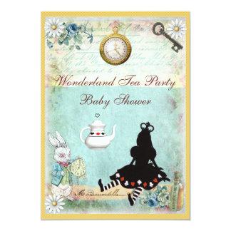 """Princesa Alicia en fiesta del té de la fiesta de Invitación 5"""" X 7"""""""