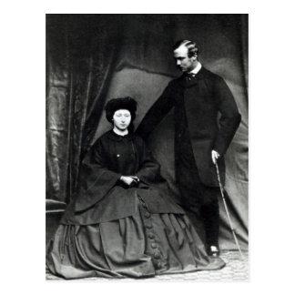 Princesa Alicia y príncipe Luis de Hesse, 1860 Tarjeta Postal