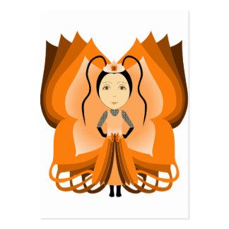 Princesa ambarina de la mariposa plantilla de tarjeta de visita