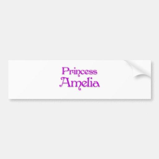 Princesa Amelia Pegatina De Parachoque