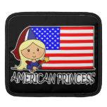 Princesa americana linda Flag del clip art del dib Mangas De iPad