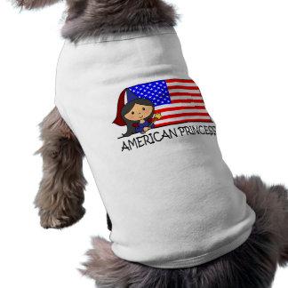 Princesa americana linda Flag del clip art del Camiseta Sin Mangas Para Perro