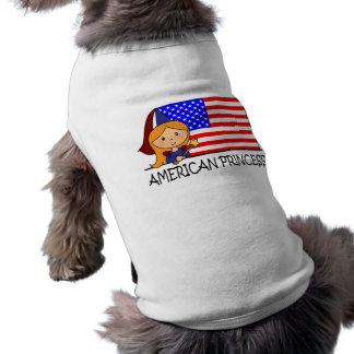 Princesa americana linda Flag del clip art del Prenda Mascota