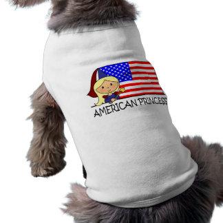 Princesa americana linda Flag del clip art del Camisa De Perrito