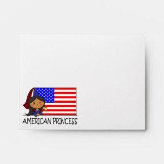 Princesa americana linda Flag del clip art del Sobres