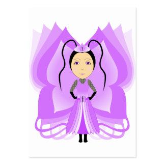 Princesa Amethyst de la mariposa Plantillas De Tarjetas De Visita
