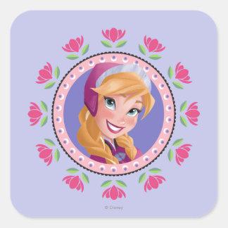 Princesa Ana Calcomania Cuadradas Personalizadas