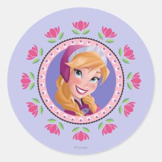 Princesa Ana Pegatinas Redondas