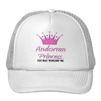 Princesa andorrana gorras de camionero