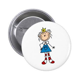 Princesa Annie Button Pin Redondo De 2 Pulgadas