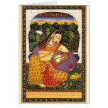 Princesa antigua de Mughal del indio Tarjeton