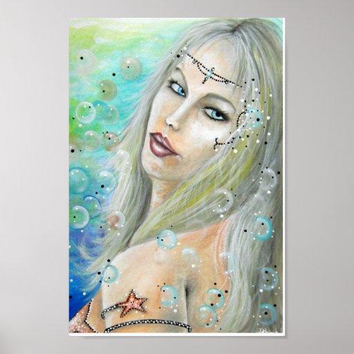Princesa Art del océano Impresiones