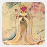 Princesa Art Gifts de la tarjeta del día de San Calcomanía Cuadradas