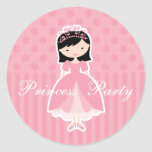 Princesa asiática Party Sticker Pegatinas