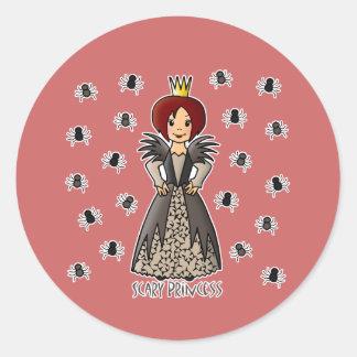 Princesa asustadiza etiqueta