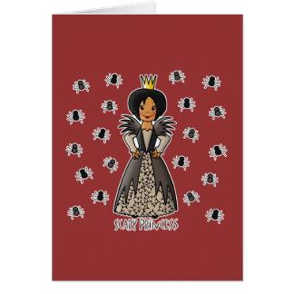 Princesa asustadiza tarjeta