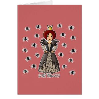 Princesa asustadiza tarjeta de felicitación