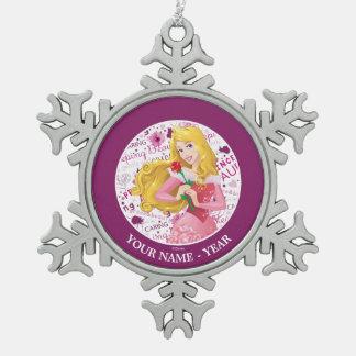 Princesa Aurora Adorno De Peltre En Forma De Copo De Nieve
