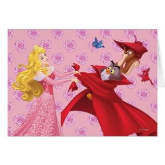 Princesa Aurora y animales del bosque Tarjeta De Felicitación